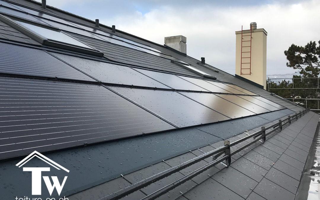 Rénovation énergétique de la toiture au domaine des Pins à Gland