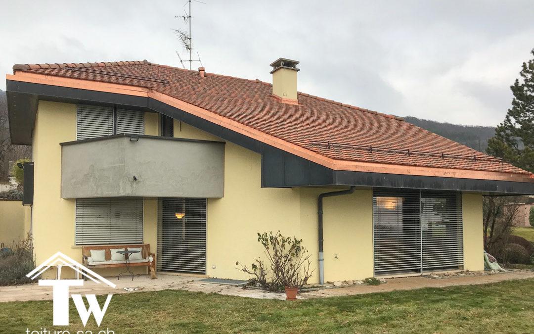 Rénovation énergétique d'une toiture en tuile plate à Givrins